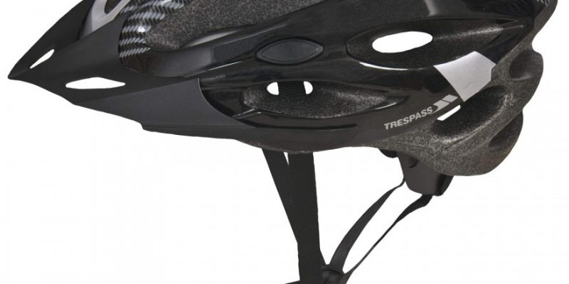 Trespass Crankster bicycle helmet in black