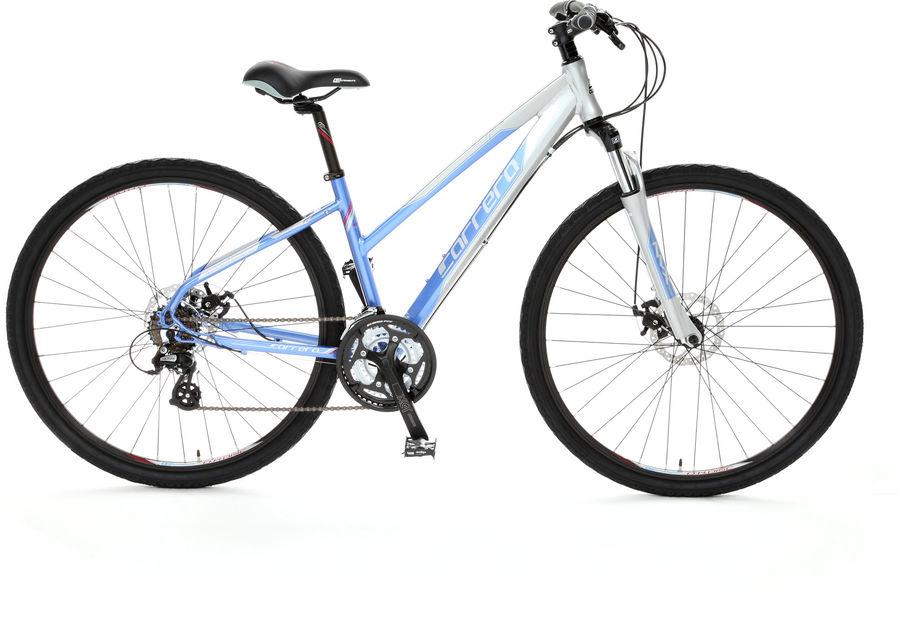 Carrera women's hybrid bicycle